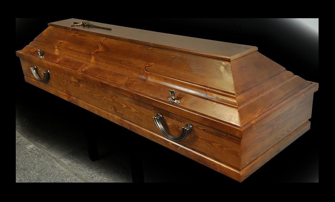 TS12 Sarkofag Hanowerski Sosnowy Busztynowy sosna jasny sarkofag do pochówku