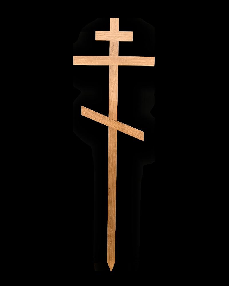 Krzyż Procesyjny Prawosławny Dębowy Jasny