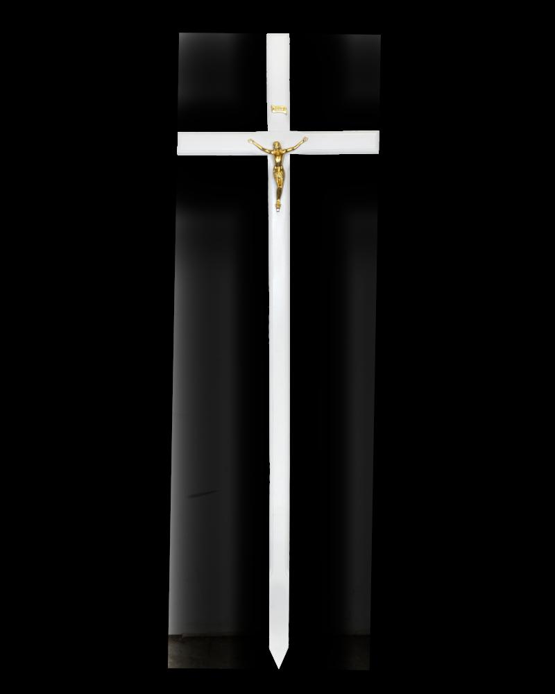 Krzyż Procesyjny Olchowy Biały