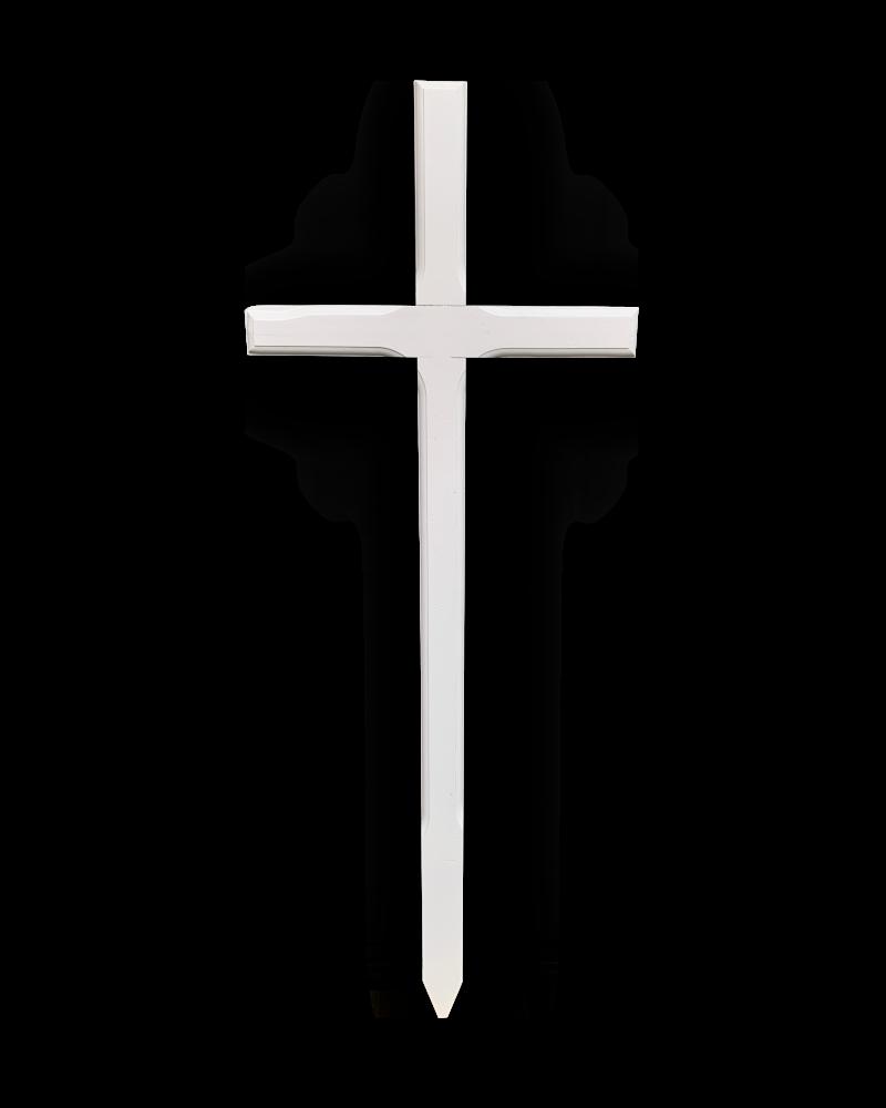 Krzyż Procesyjny Olchowy Biały Dziecięcy