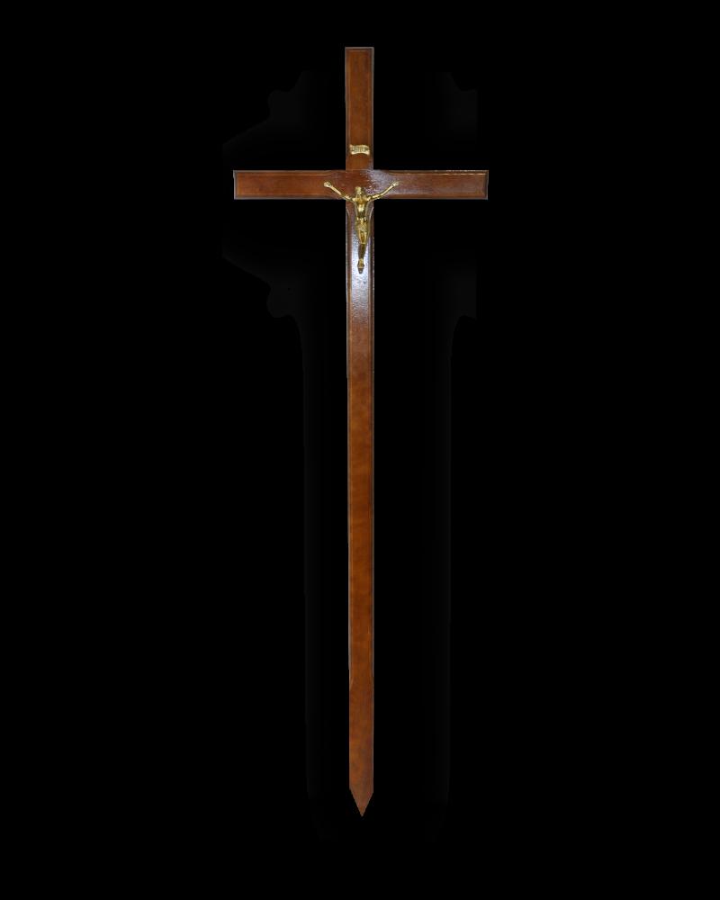 Krzyż Procesyjny Olchowy Ciemny