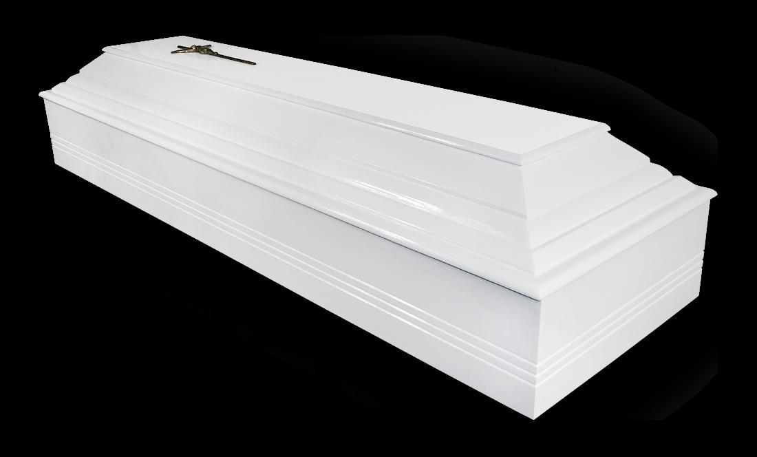TO6b Skandynawska Olchowa Biała olcha biały sarkofag do pochówku