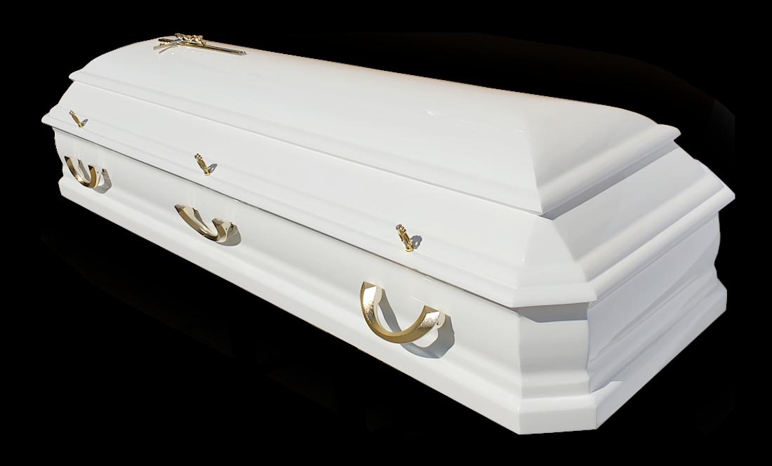 TO8b Amerykanka Olchowa Biała olcha biały sarkofag do pochówku