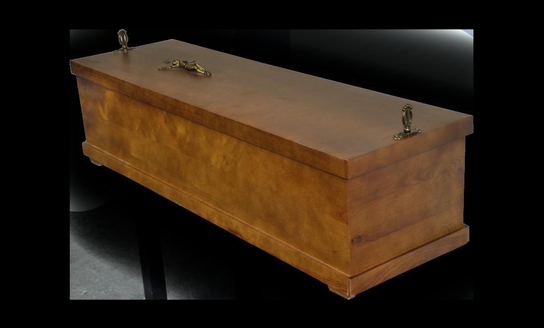 TSE120 Ekshumacyjna 120 sosna ciemny sarkofag ekshumacyjna