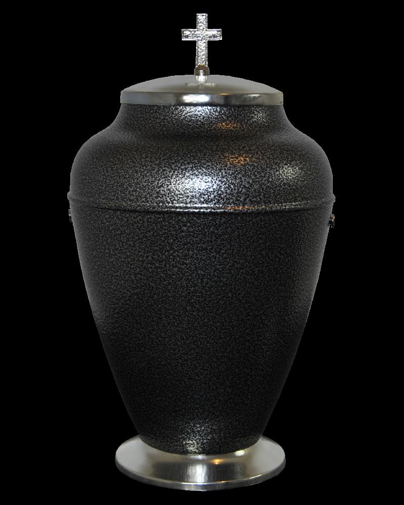 Urna Indyjska Czarno-Srebrna