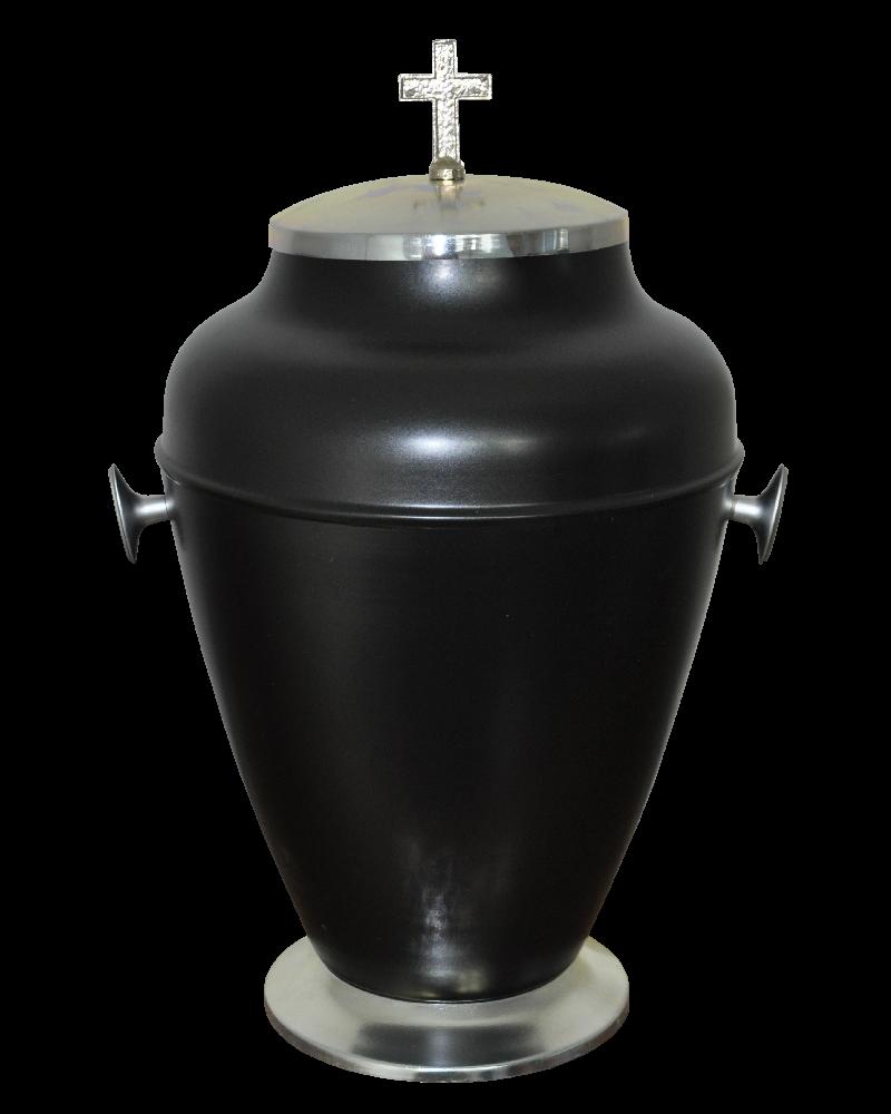 Urna Indyjska Czarny Mat Srebrna