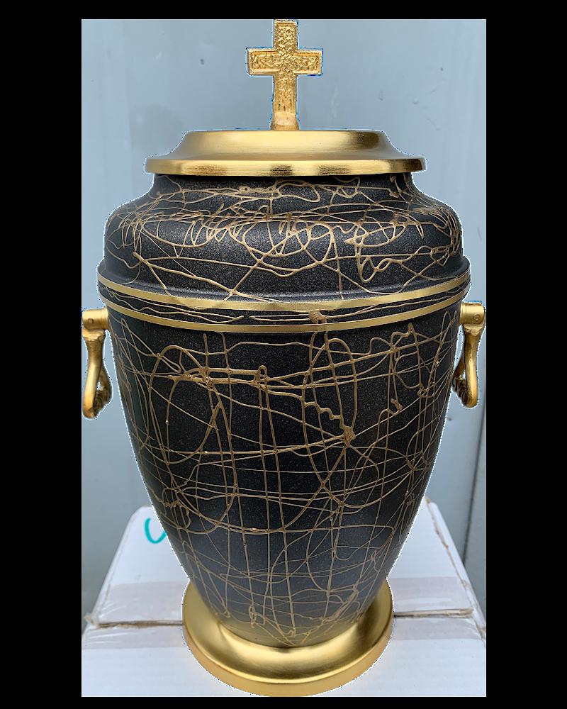 Urna Indyjska Czarno-Złota Plus