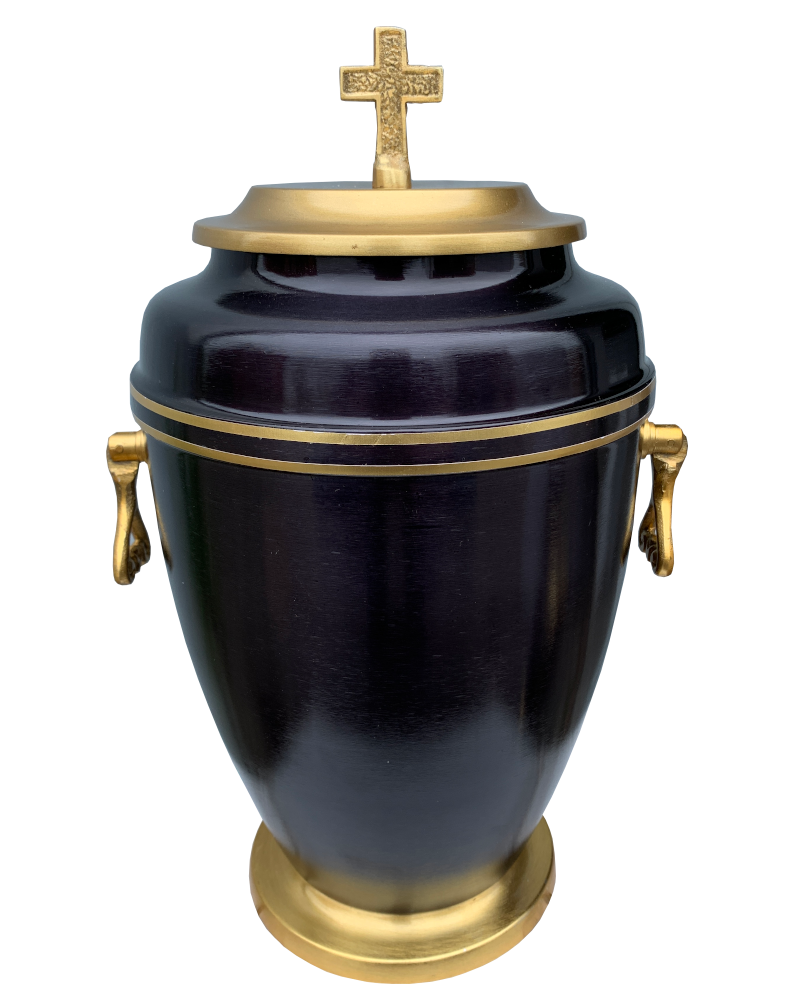 Urna Indyjska Czarno-Złota